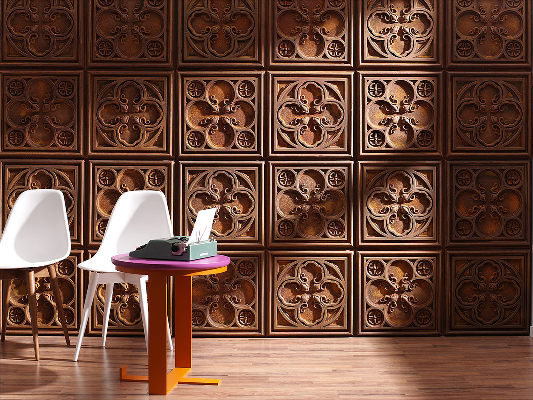 Panel Piedra - Serie Vintage - Paneele mit Vintageoptik - Alhambra Rost PR-1005