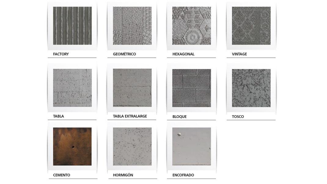 Panel Piedra Serie Cemento - Kollektion Cemento - Betonoptik