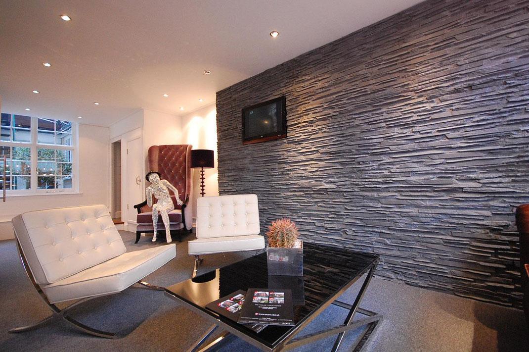 Panel Piedra - Laja Fina - Wohnzimmer neu gestaltet