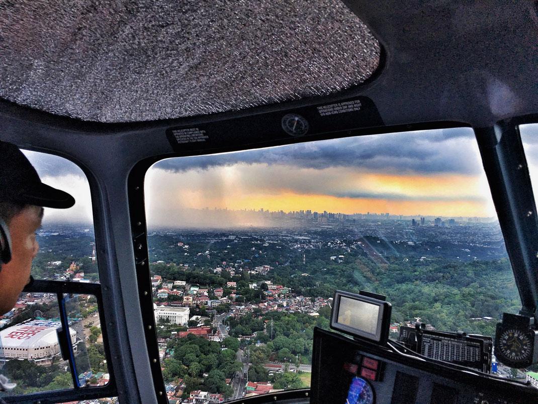 Rain over Manila