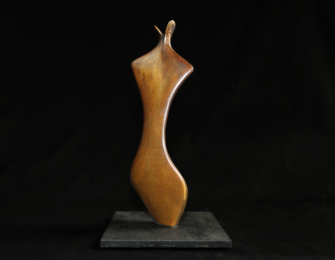 Die Überraschte / Bronzefassung, 35 cm / Foto Jean Molitor
