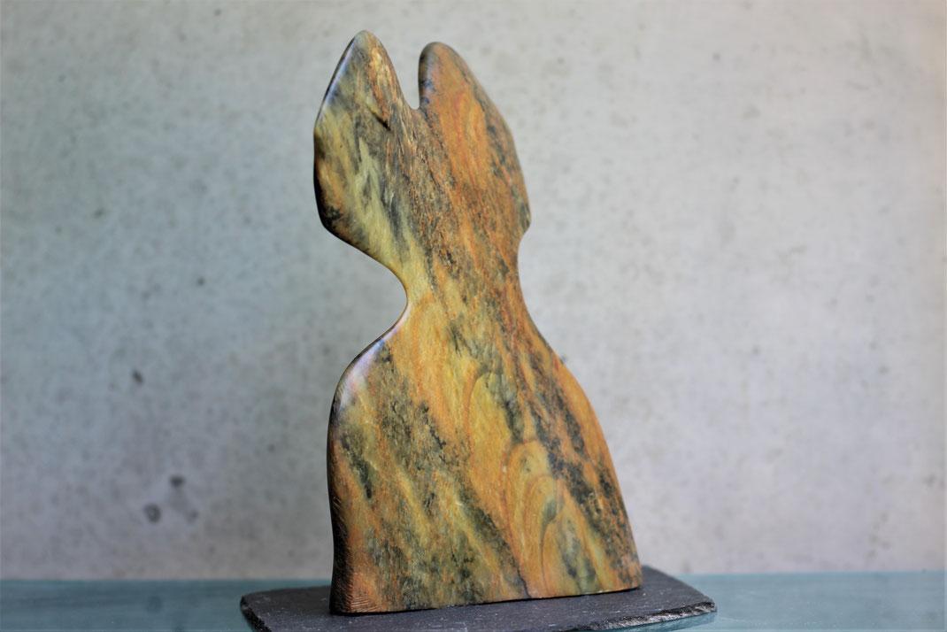Heidrun Feistner: Zu zweit / Die malenden Steine / Stein / 2019 / Foto HF
