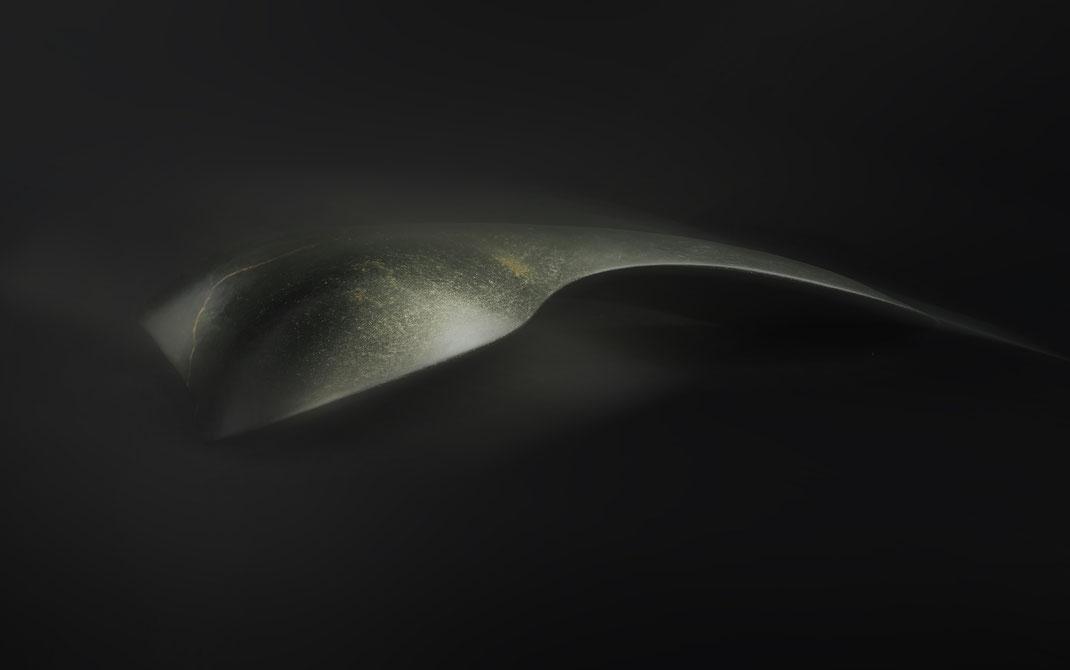 Heidrun Feistner und Jean Molitor: Denkmal für ein Meer / Fotografik auf Aluminium nach der Skulptur