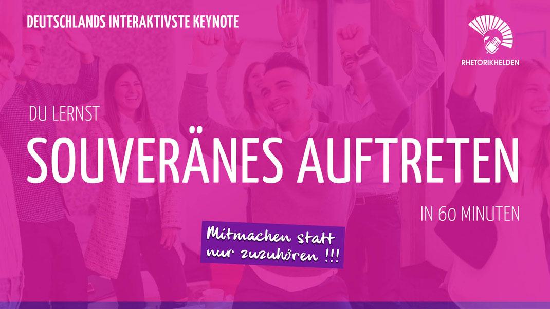 Hannovers interaktivste Keynote - mitmachen statt nur zuzuhören