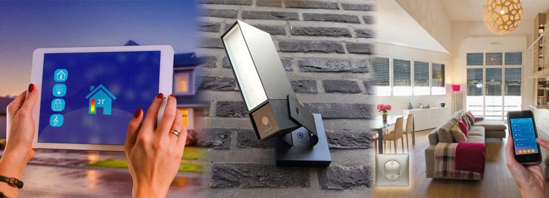 Vous regardez des images d'une maison connecté en domotique avec caméra de sécurité devis merville