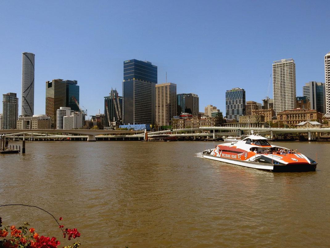 Brisbane liegt wunderschön am Brisbane River