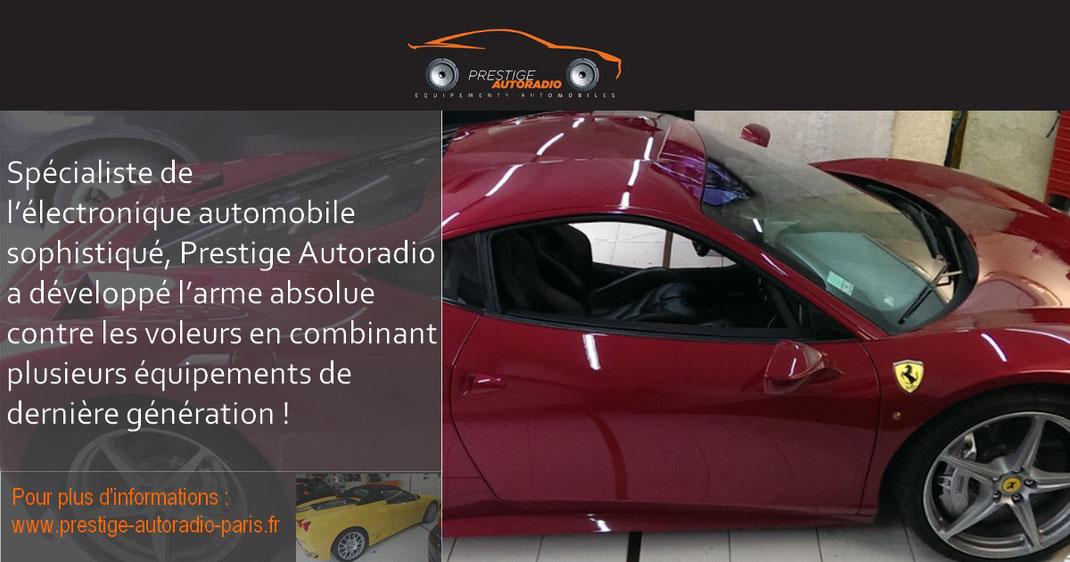 Spécialiste de l'électronique automobile sophistiqué, Prestige Autoradio a développé l'arme absolue contre les voleurs en combinant plusieurs équipements de dernière génération!