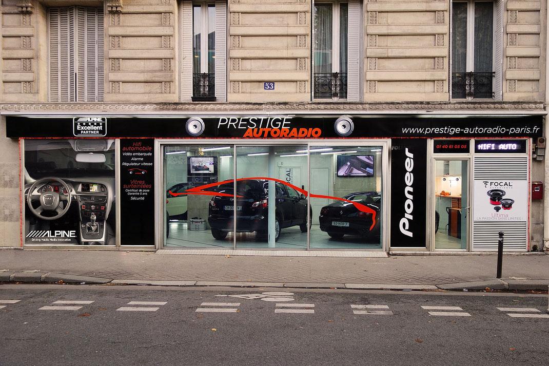 Après le relooking de son logo Prestige Autoradio Paris vous présente sa nouvelle devanture.