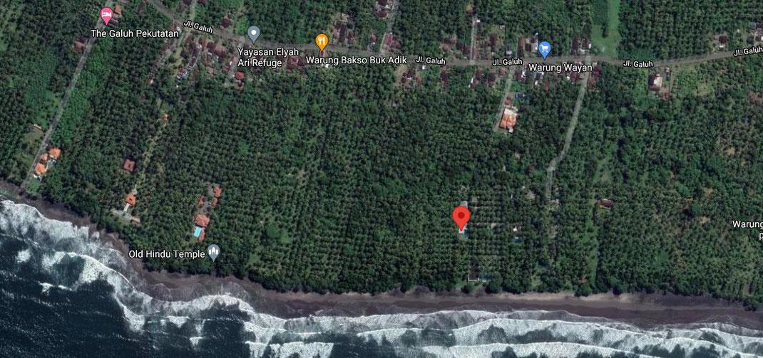 Pekutatan beachfront villa for sale