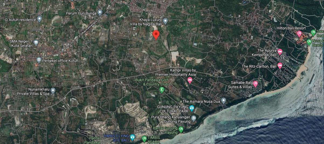 Ungasan land for sale by owner. Land for sale in the Bukit, Bali