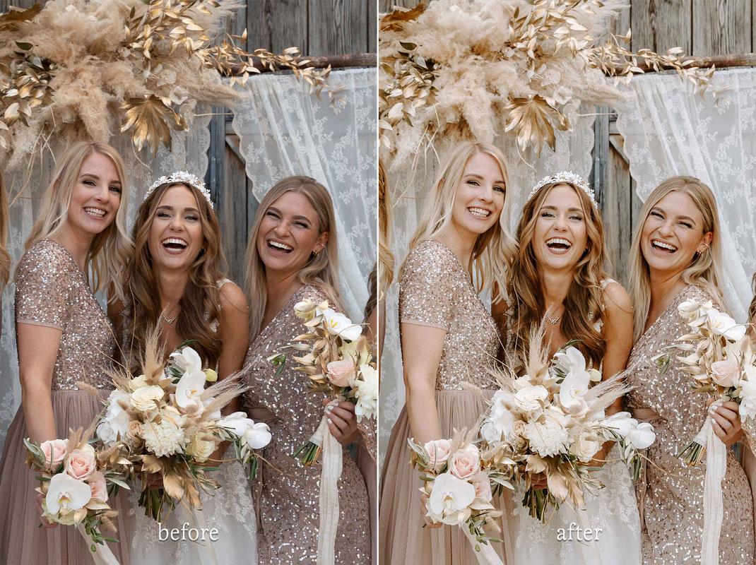 Vorher Nachher Lightroom Presets Hochzeitsfotograf
