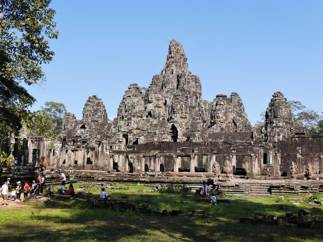 Nach Angkor Wat sicher der berühmteste Tempel in der Gegend, Bayon, Kambodscha (Foto Jörg Schwarz)