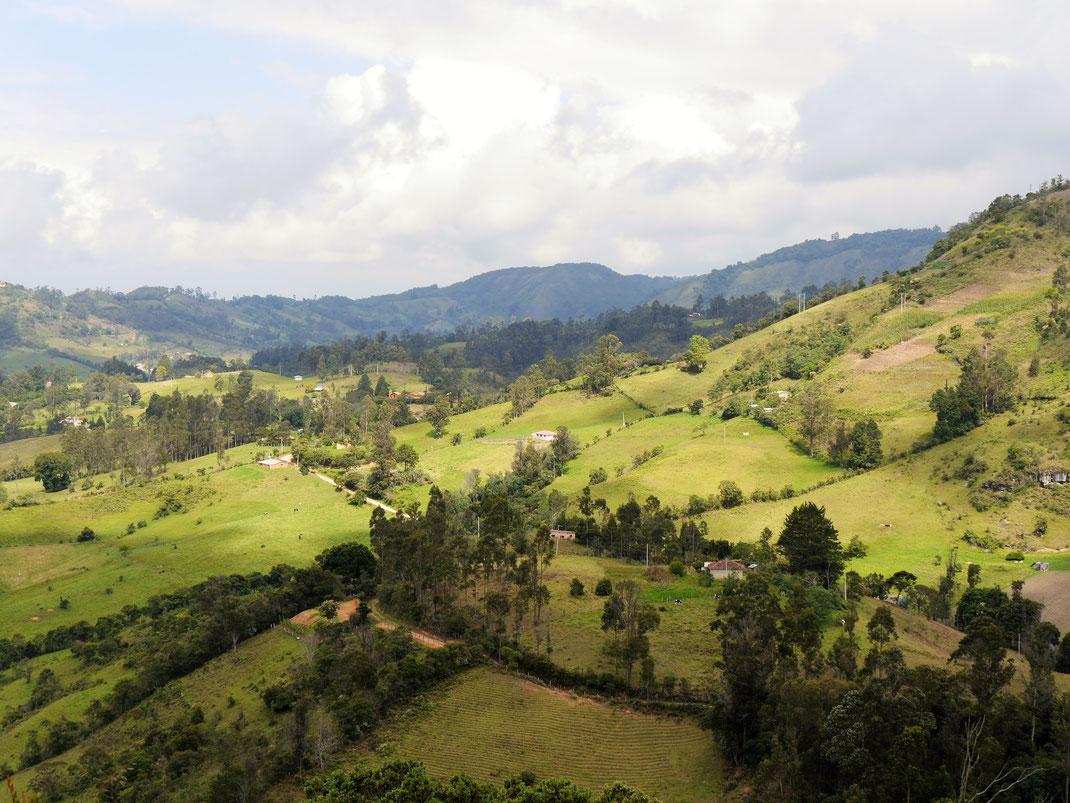 Im Umfeld Gachantivás findet man herrliche Natur und fabelhafte Landstriche... Bei Gachantivá, Kolumbien (Foto Jörg Schwarz)