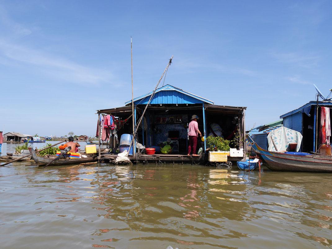 Schwimmende Dörfer, Kompong Chhnang, Kambodscha (Foto Jörg Schwarz)