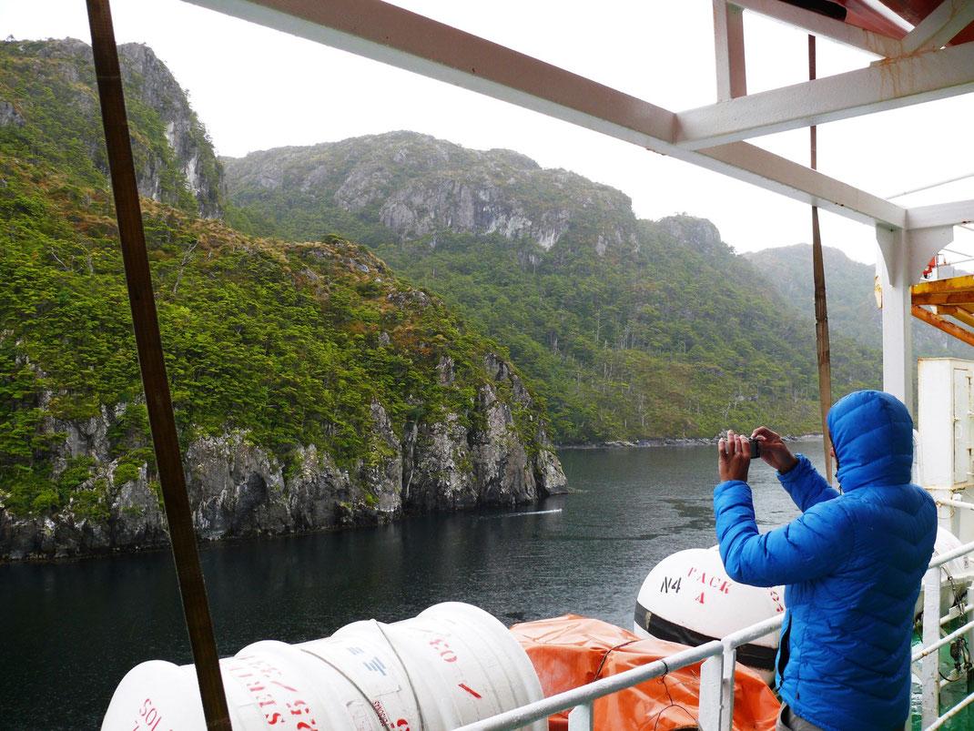 Das Nadelöhr - die engste Passage erfordert vom Kapitän höchste Aufmerksamkeit (Foto Jörg Schwarz)