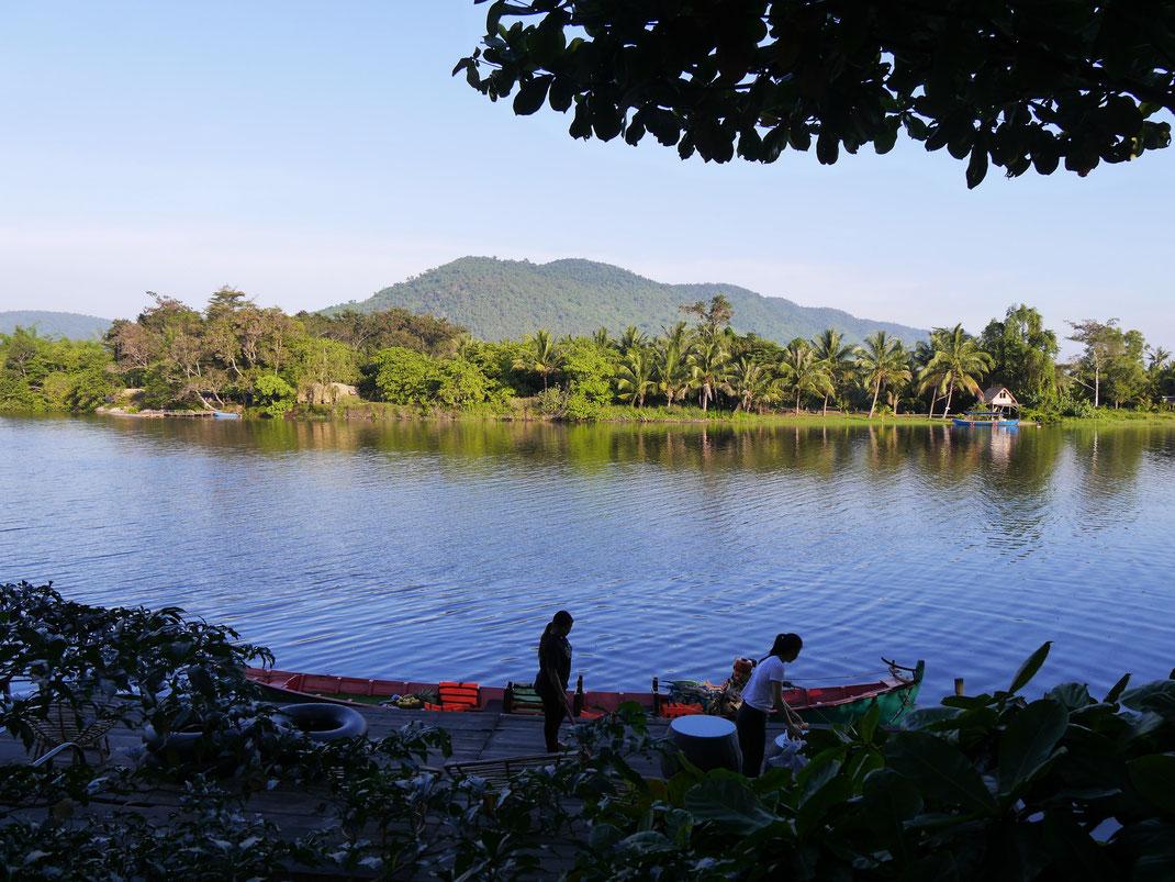 Natürlich bieten sich Ausflüge auf den Fluss und seine Mangroven an... Bei Kampot, Kambodscha (Foto Jörg Schwarz)