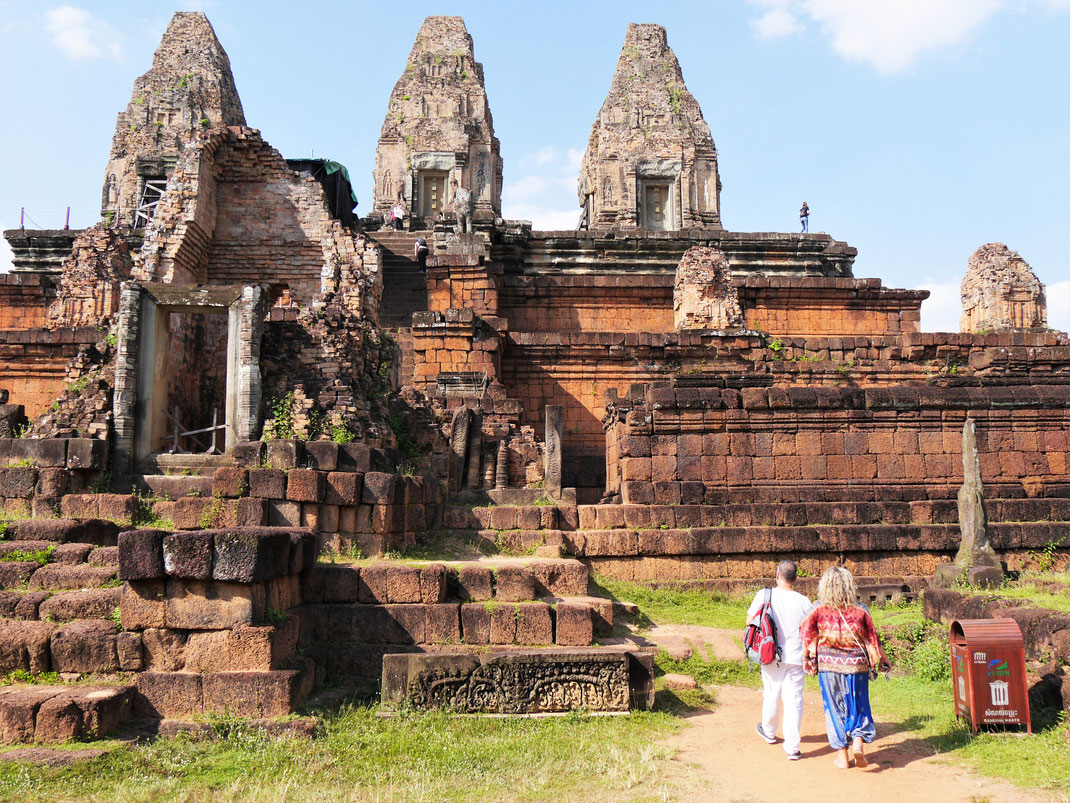Der Pre Rup symbolisiert mit seinen 5 Türmen und der pyramidalen Form den Berg Meru... Pre Rup, Kambodscha (Foto Jörg Schwarz)