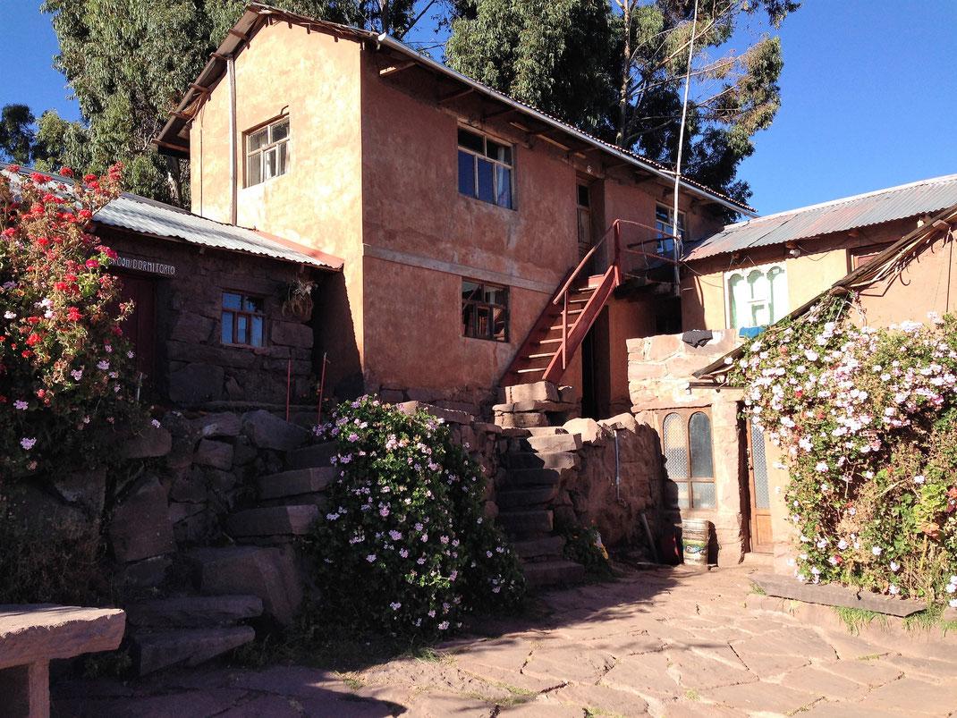 Ein Teil der Casa Felix, Santa Maria, Capachica, Peru (Foto Jörg Schwarz)