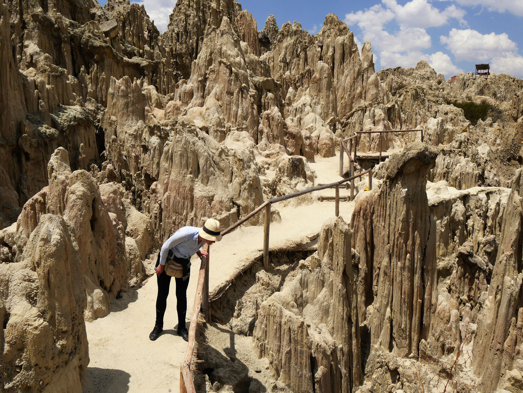 Nee, lieber nicht da rein fallen... Bei La Paz, Bolivien (Foto Jörg Schwarz)