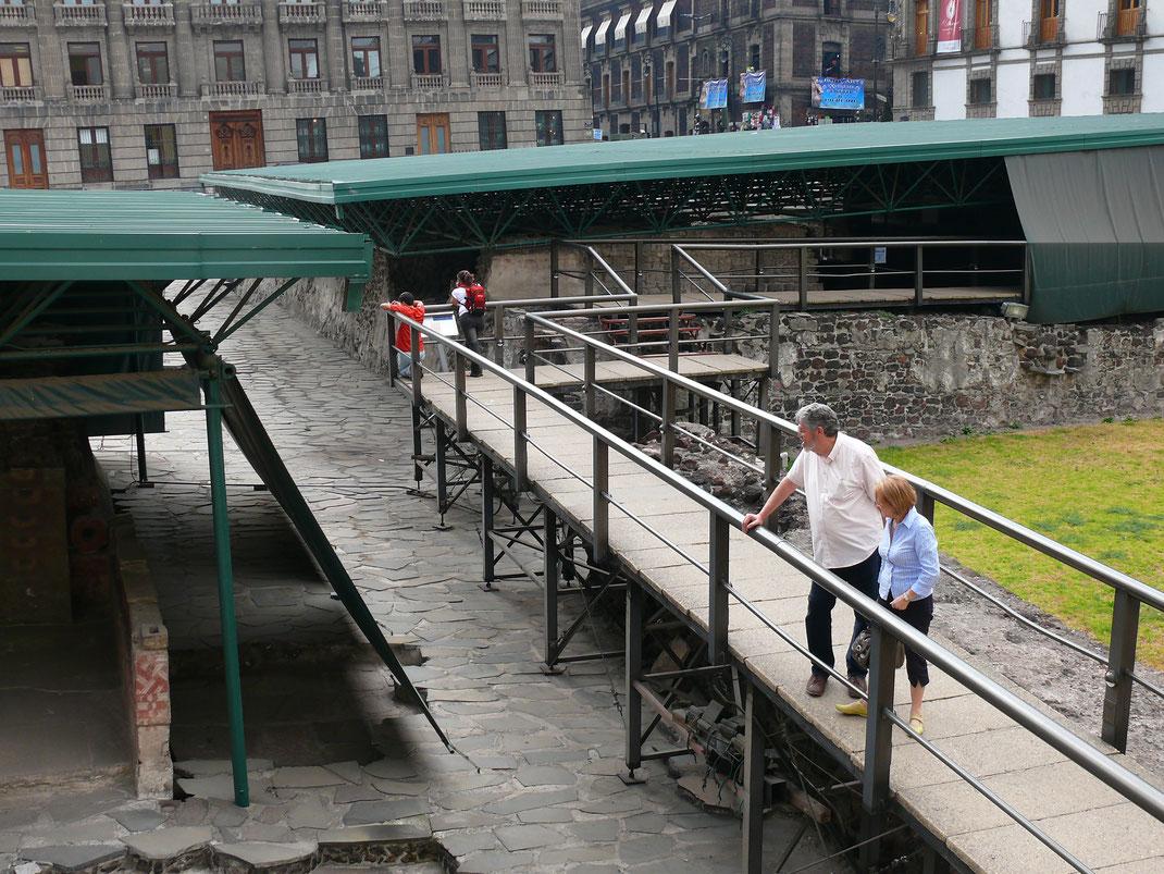 Das Areal des Templo Mayor ist mit dem fantastischen zugehörigen Museum zum Templo Mayor verbunden (Foto Jörrg Schwarz)