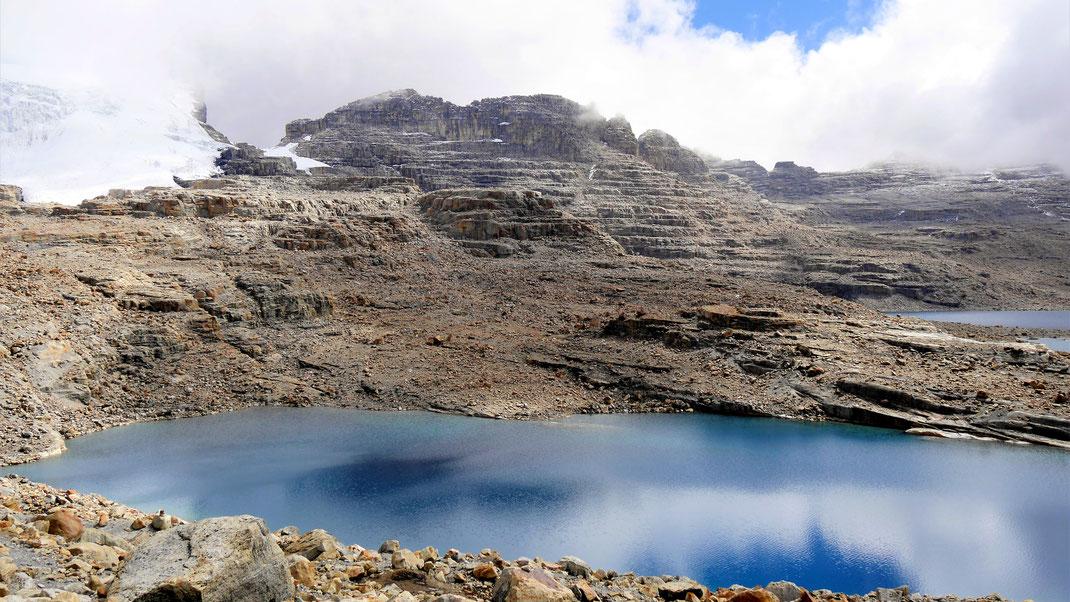 Der finale Blick: Die Laguna Grande auf 4.600 m, Parque Nacional del Cocuy, Kolumbien (Foto Jörg Schwarz)