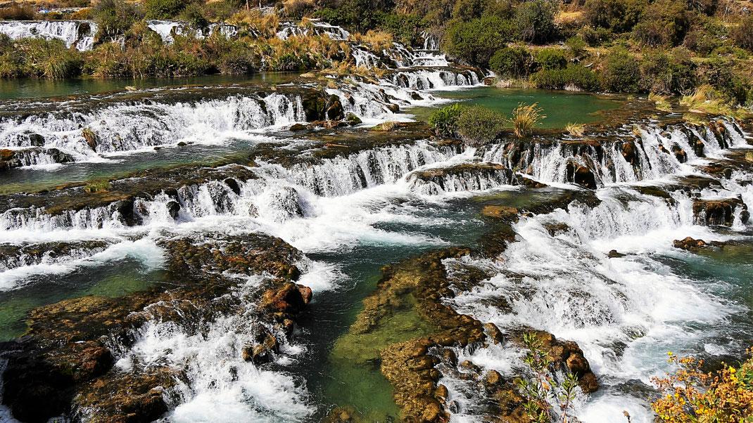 Teile der Cascadas in Huancaya, einem wundervollen Flusstal, Huancaya, Peru (Foto Jörg Schwarz)