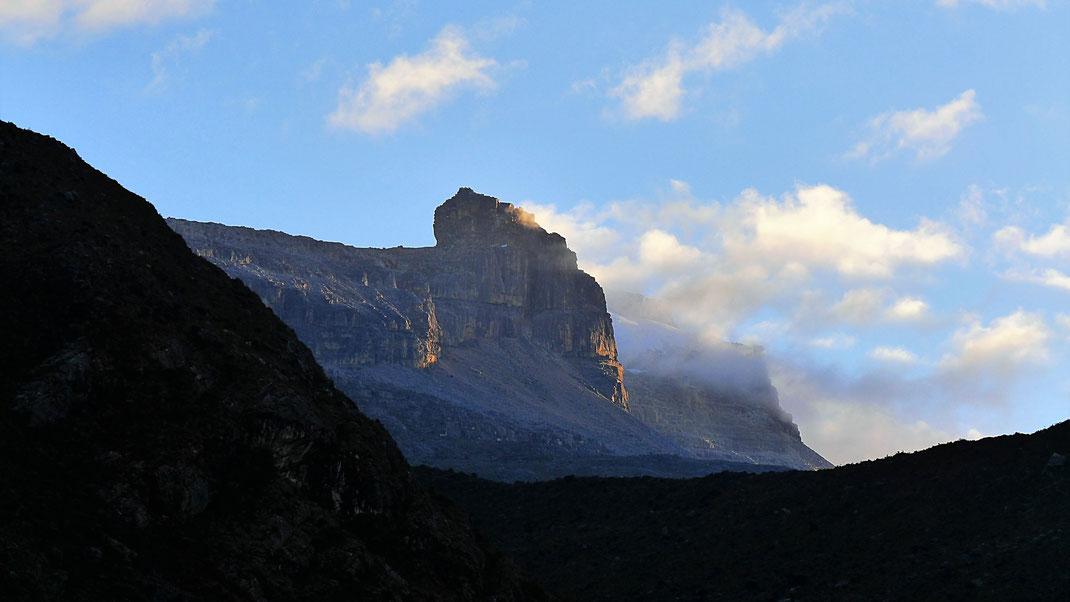 Frühmorgendliches Erwachen eines 5.000ers, Parque Nacional del Cocuy, Kolumbien (Foto Jörg Schwarz)
