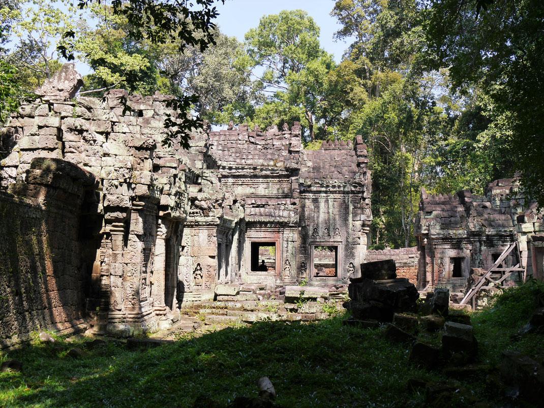 Wunderbare Strukturen lassen das Archäologenherz höher schlagen... Preah Khan, Kambodscha (Foto Jörg Schwarz)