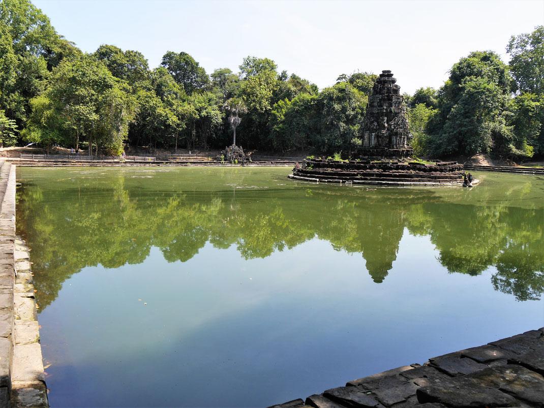 Alles hier ist von Wasser umrahmt, Neak Pean, Kambodscha (Foto Jörg Schwarz)
