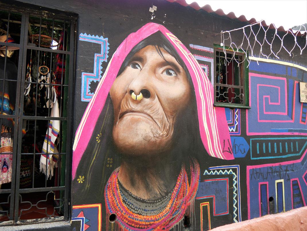 Streetart Candelaria, Bogotá, Kolumbien (Foto Jörg Schwarz)