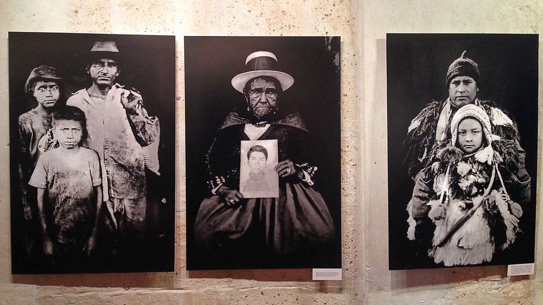 Richtig starke Portraits des Argentiniers Rodrigo Abd in der Bibliothek Mario Vargas Llosa, Arequipa, Peru (Foto Jörg Schwarz)