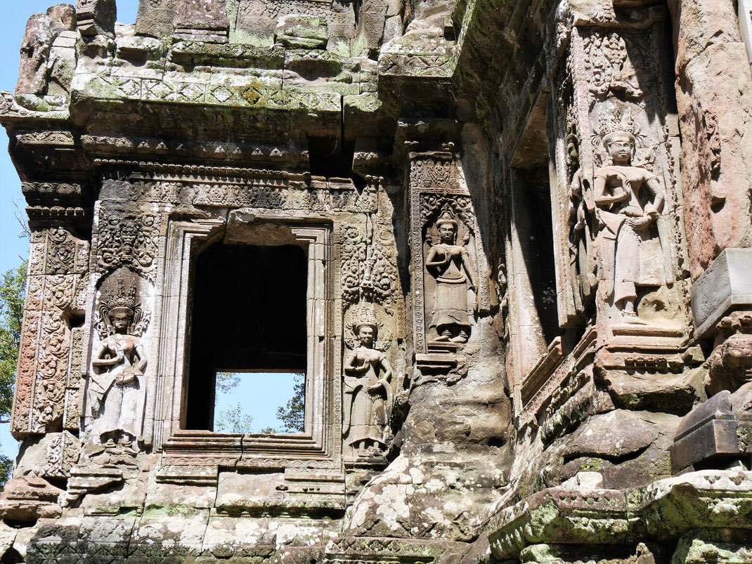 Der gesamte Tempelkomplex war reich geschmückt, Chau Say Thevoda, Kambodscha (Foto Jörg Schwarz)