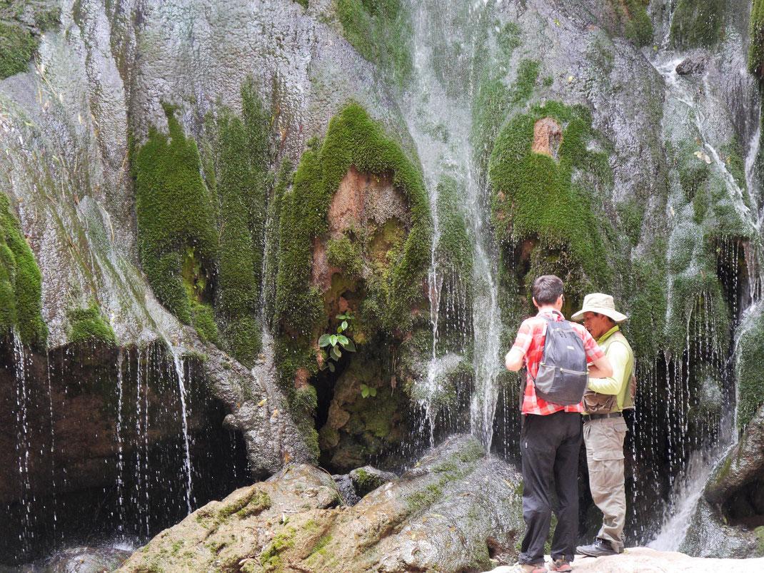 Im Canon dominieren Wasser und Wasserfälle... Toro Toro, Bolivien (Foto Jörg Schwarz)