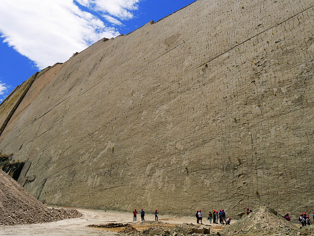 DIE WAND - eine urgeschichtliche Uferzone mit unzähligen Dinosaurierspuren, Sucre, Bolivien (Foto Jörg Schwarz)