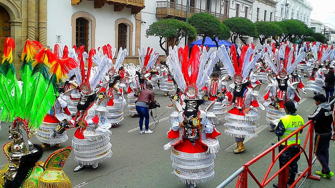 Fabelhafte Wesen und Masken zum Fürchten, Sucre, Bolivien (Foto Jörg Schwarz)