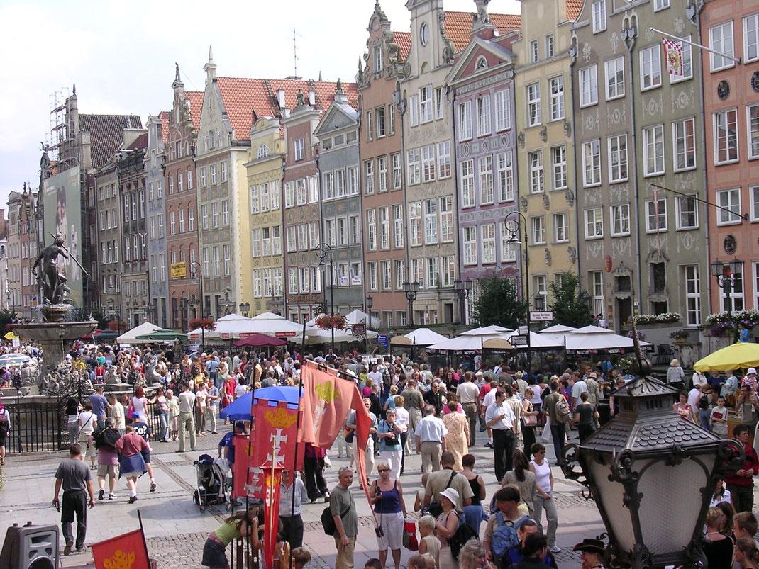 Die wiedererrichtete Altstadt von Gdansk (Danzig) (Foto Jörg Schwarz)