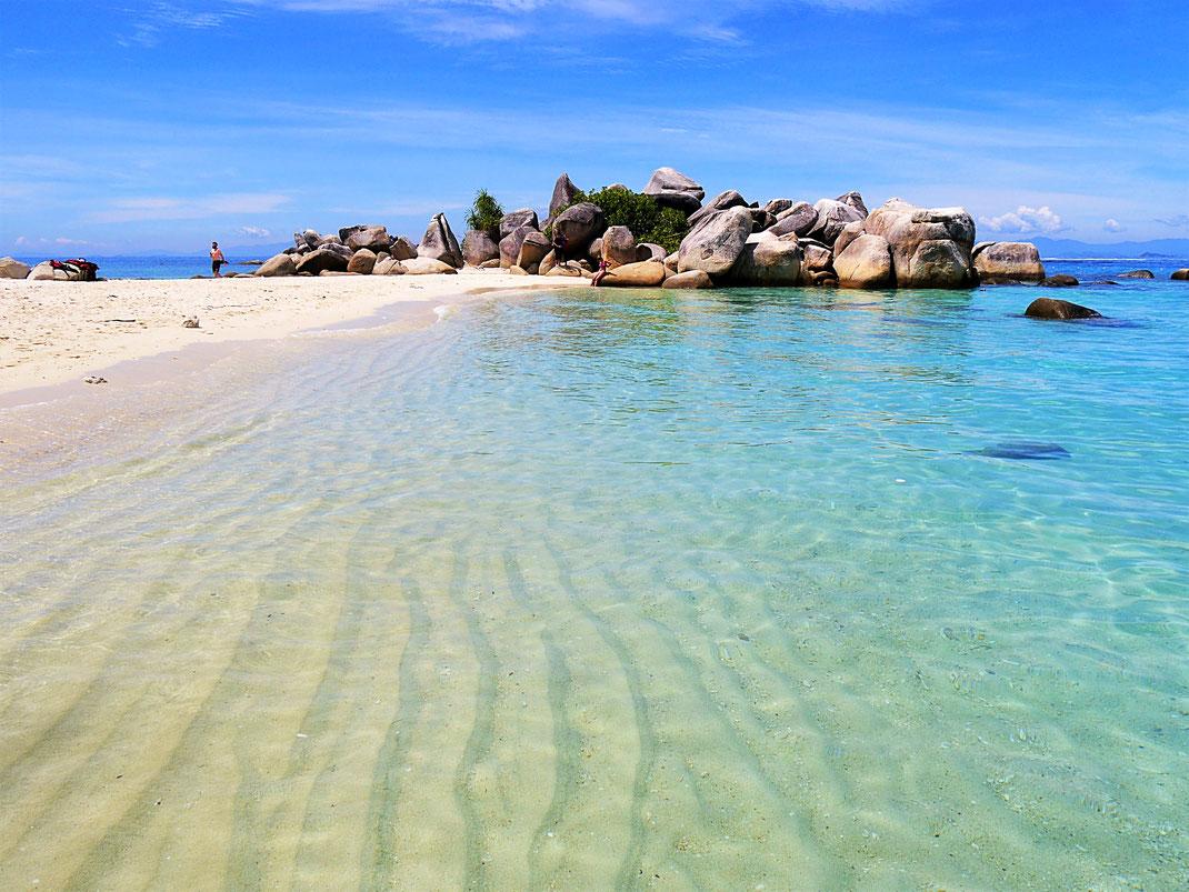 Die Bucht von Teluk Keke erfüllt alle Südseeklischees... Pulau Perhentian Besar, Malaysia (Foto Jörg Schwarz)