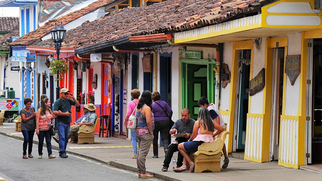 Grandiose Altstadt, Salento, Kolumbien (Foto Jörg Schwarz)