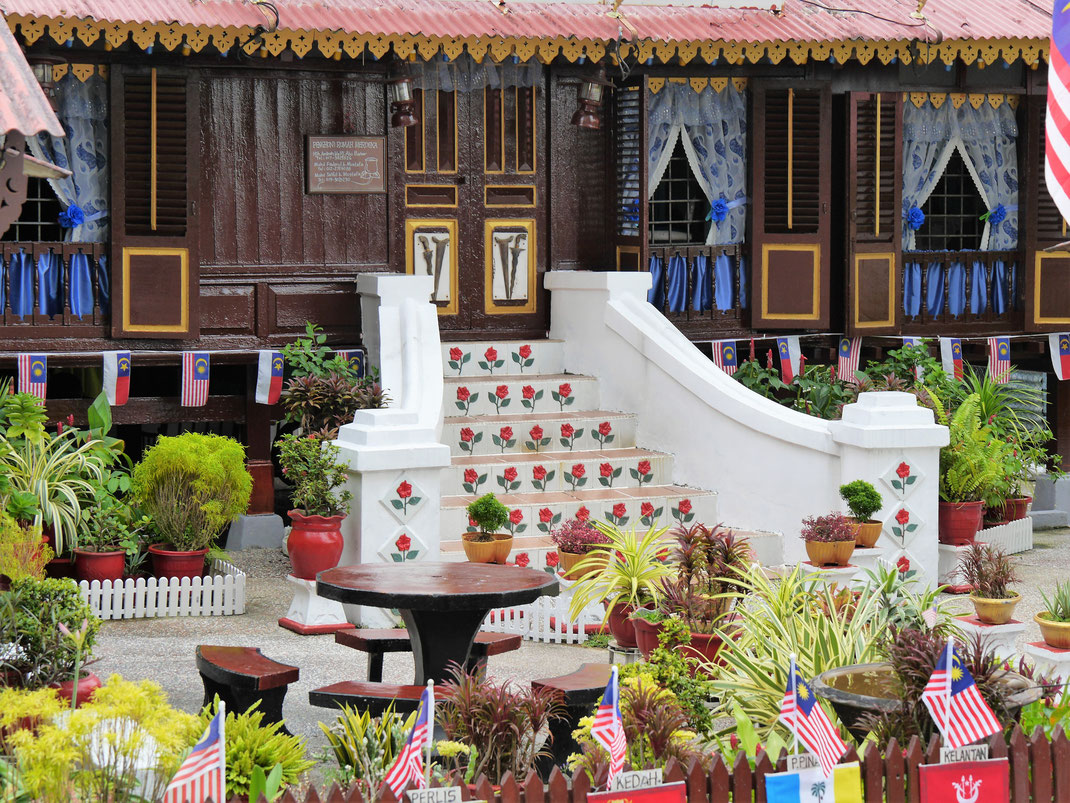 Ein traditionelles malaiisches Haus im Kampung Morten, Melaka, Malaysia (Foto Jörg Schwarz)