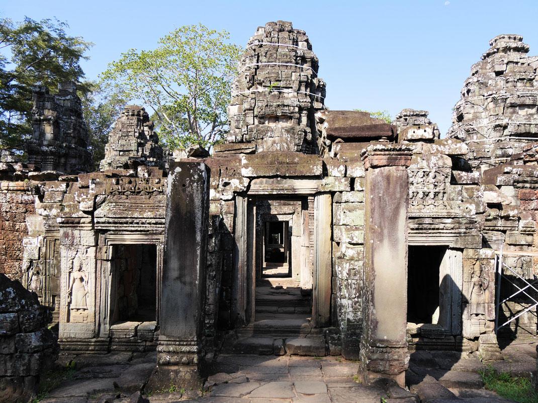 Die Strukturen des Tempels sind gut erhalten... Banteay Kdei, Kambodscha (Foto Jörg Schwarz)