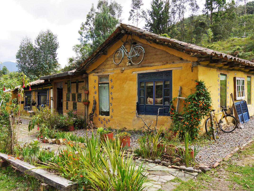Unser Heim für eine Woche: Jacamaki! Auf dem Land bei Gachantivá, Kolumbien (Foto Jörg Schwarz)