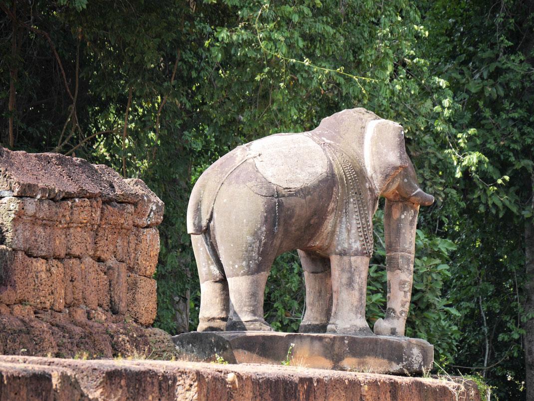 Die großen Elefantenkörper haben ihren Reiz... Östlicher Mebon, Kambodscha (Foto Jörg Schwarz)