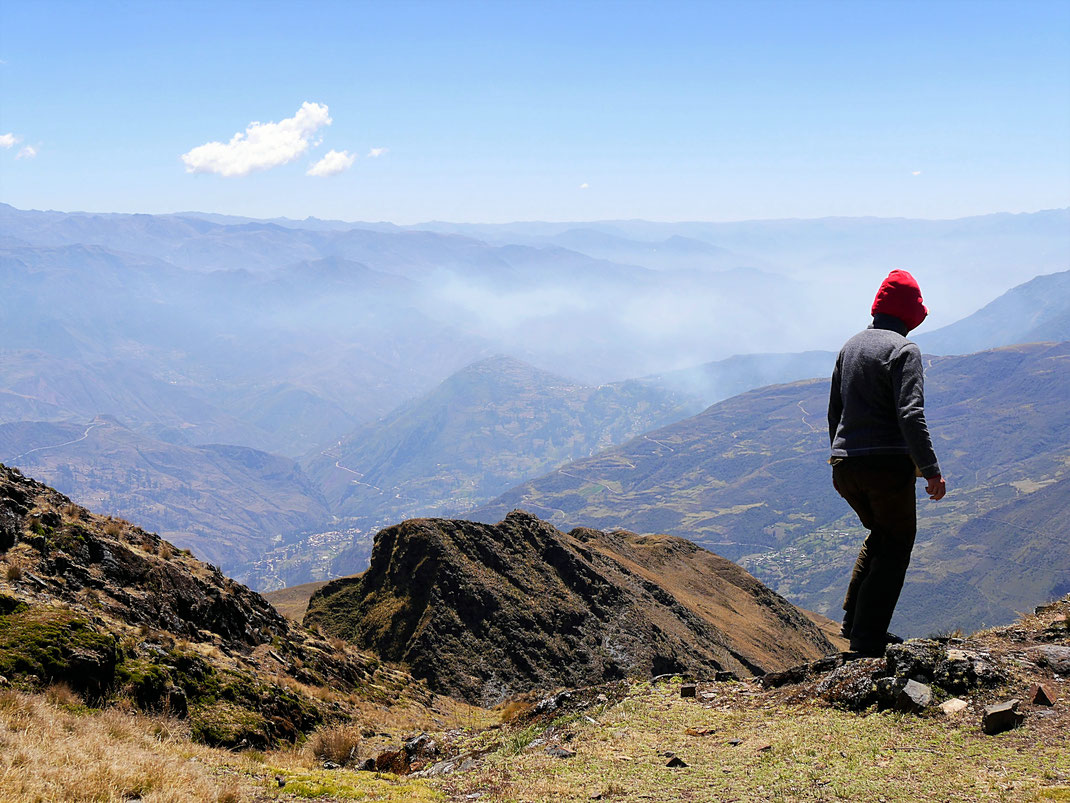 Und dann gehts schon wieder zurück... Sorata, Bolivien (Foto Jörg Schwarz)