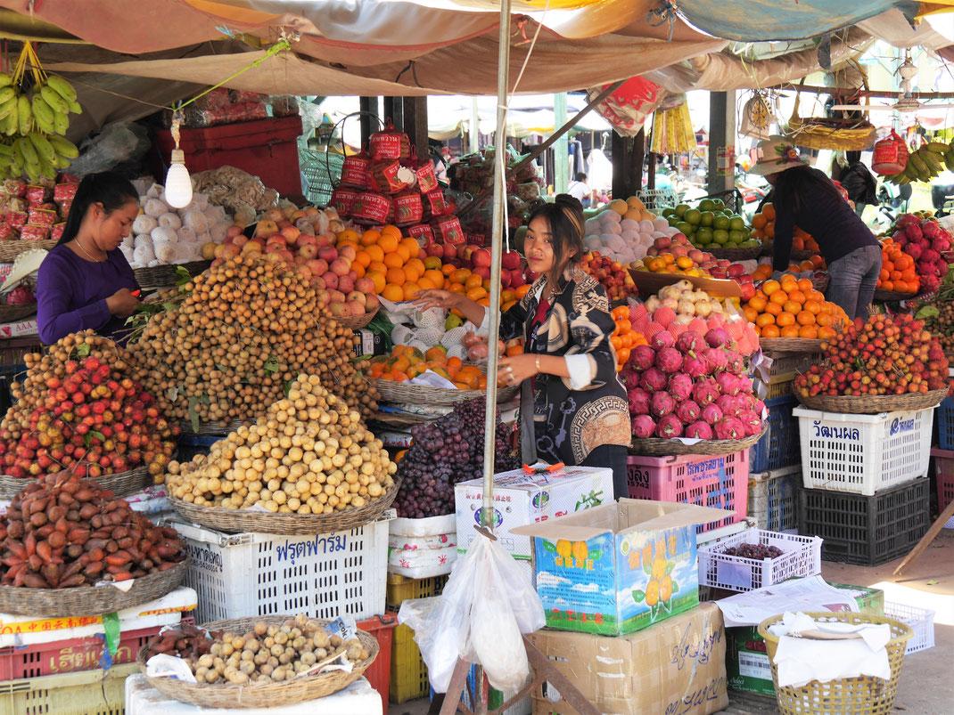 Die Märkte Kompong Thoms sind spektakulär, Kompong Thom, Kambodscha (Foto Jörg Schwarz)