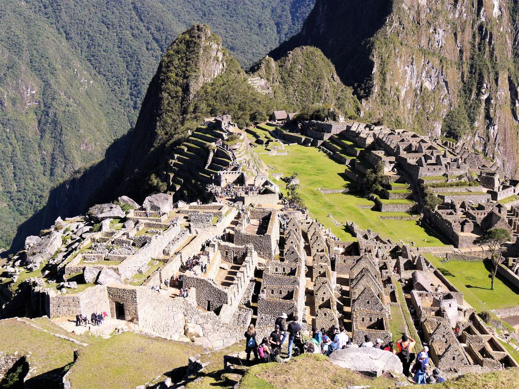 Da von den Spaniern wohl nie entdeckt: Bestens erhaltene Gebäude und Stadtstrukturen: Machu Picchu, Peru (Foto Jörg Schwarz)