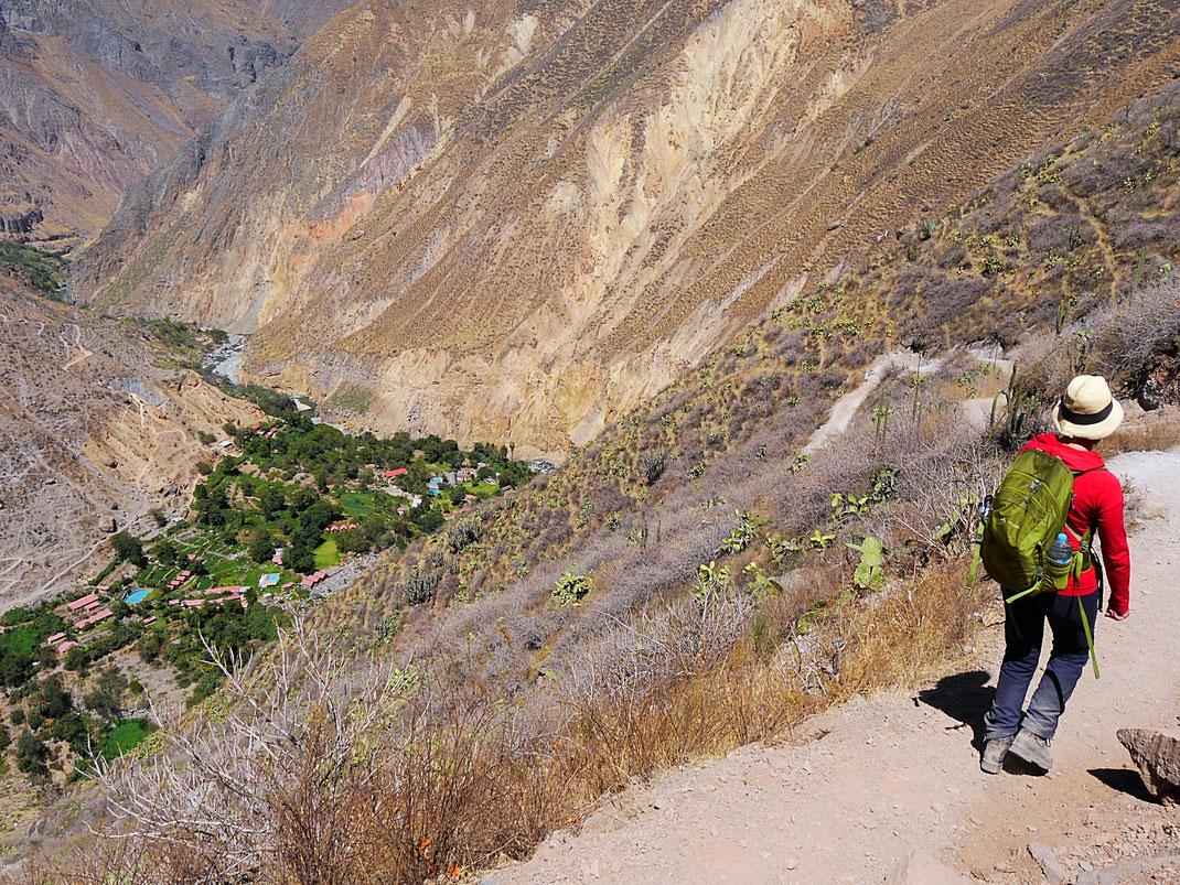 Wir kommen dem vorläufigen Ziel: Sangalle näher... Sangalle, Peru (Foto Jörg Schwarz)