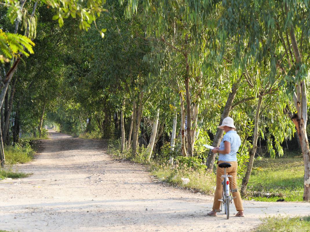 Die Landschaft ist zum Fahrradfahren ideal... Bei Takeo, Kambodscha (Foto Jörg Schwarz)
