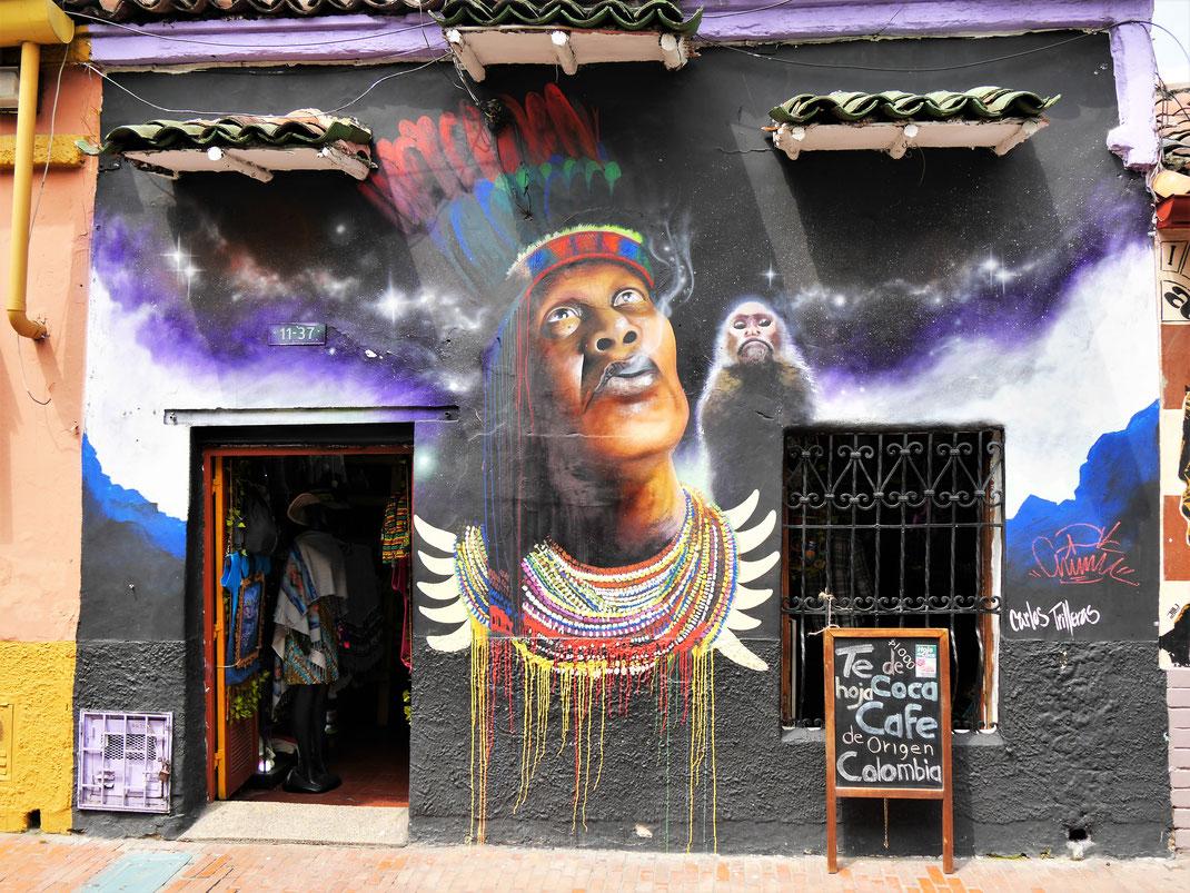 Die fabelhafte Streetart überall in Bogotá hat uns begeistert! Bogotá, Kolumbien (Foto Jörg Schwarz)