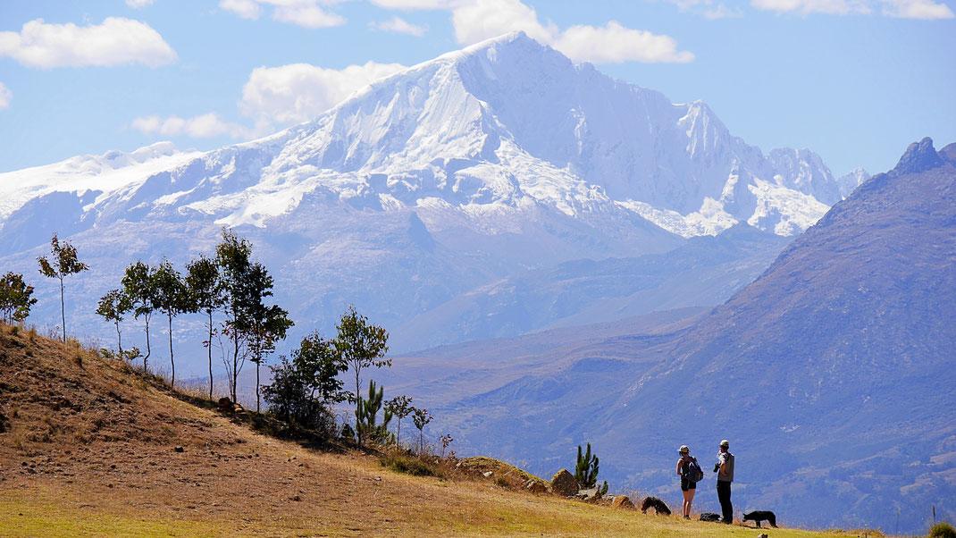 Der finale Blick von der Laguna Wilkacocha aus auf den Huantsan, Cordillera Blanca, Peru (Foto Jörg Schwarz)