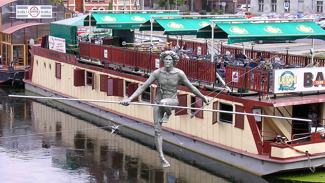 Kunst im Stadtzentrum von Bydgoszcz (Foto Jörg Schwarz)